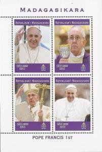 Madagascar 2019 POPE FRANCIS 1st Sheet Perforated Mint (NH)