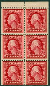 EDW1949SELL : USA 1912 Scott #406a Position A. Mint Original Gum HR. Cat $65.00.