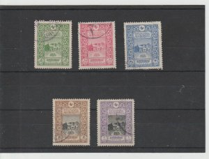 Turkey  Scott#  345-349  Used  (1916 Old General Post Office)