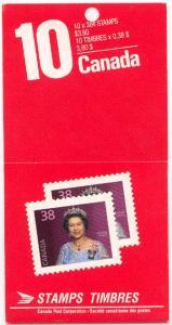 Canada - 1988 38c Queen Complete Booklet #BK102c
