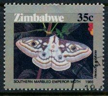 Zimbabwe SG 697  SC# 532  CTO  Moths  1986 see detail and scan