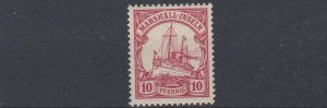 MARSHALL  ISLANDS 1901   S G  G13   10PF  CARMINE   MNH