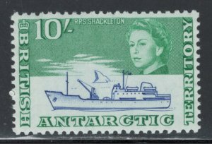 British Antarctic Territory 1963 RRS Shackleton 10sh Scott # 14 MH