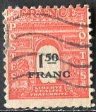 France; 1945: Sc. # 523G: O/Used Single Stamp