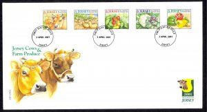 Jersey Sc# 981a-981e FDC 2001 4.3 Agricultural Products