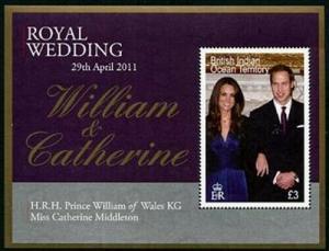HERRICKSTAMP BRITISH INDIAN OCEAN Sc.# 426 Royal Wedding Prince William S/S