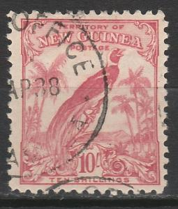 NEW GUINEA 1932 UNDATED BIRD 10/- USED