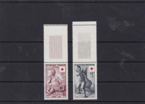 france 1955 red cross fund  mnh  stamps set cat £23  ref 7200