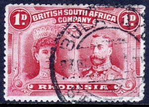 Rhodesia - Scott #102 - Used - P14 - Two rounded corners - SCV $3.75