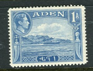 ADEN; 1938 early GVI issue fine Mint hinged Shade of 1a. value