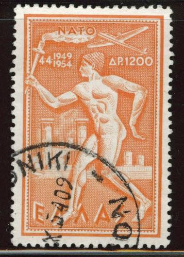 GREECE Scott C71 Used airmail stamp