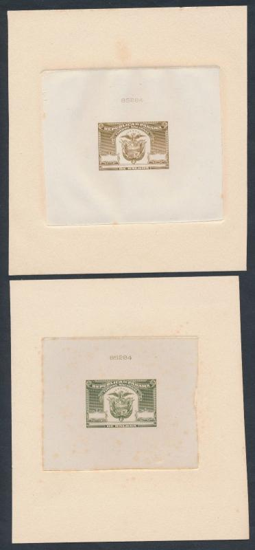 PANAMA REVENUE STAMPS (5) DIFF LARGE DIE ESSAY ON INDIA BR2316 HSFP