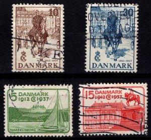 Denmark 1937 Silver Jubilee of Christian X, Set [Used]