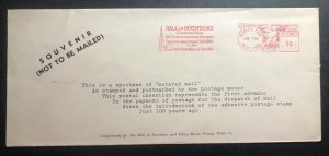 1940 New York USA Specimen Meter Cancel Souvenir Cover 150 Years Of American Pro