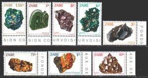 Kinshasa. 1983. 803-10. Minerals, geology. MNH.