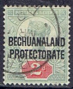Bechuanaland Protectorate, Scott #71; Overprinted 2p Queen Victoria, Used