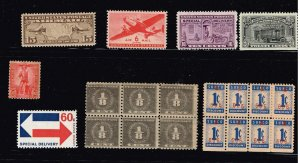 US STAMP BOB, REVENUE, OTHER STAMPS COLLECTION LOT  #1