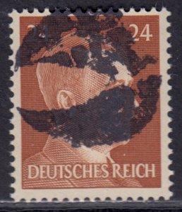 Germany Soviet Zone SBZ - LOCAL BLOSENBERG 24Pf HITLER head - Expertized Richter