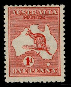 AUSTRALIA GV SG2d, 1d red, LH MINT. Cat £16. DIE II