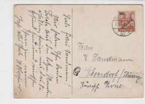 Germany 1949 Berlin Overprint Berlin Cancel Snowscene Stamps Card Ref 24119