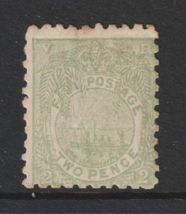 Fiji an old MH 2d from 1891 (sg 78)