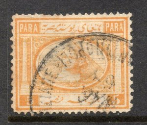 Egyptian P.O. in Levant: 1867-71 Sphinx 5pa. SG 11 used in Constantinople