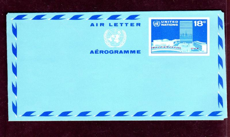 UNITED NATIONS NEW YORK #UC12  18 CENT HEADQUARTERS   #6 ENVELOPE     MINT  NH
