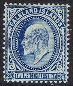 FALKLAND ISLANDS 1904 KEVII 21/2D