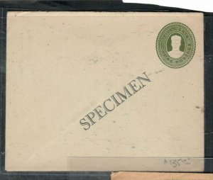 MALAYA  JOHORE COVER (P0307B) SULTAN 5C GREEN PSE UNUSED SPECIMEN SCARCE