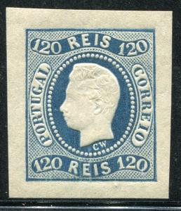 PORTUGAL ~ #24 Beautiful Mint Never Hinged Imperf Issue REPRINT 4 Margin ~ S5373