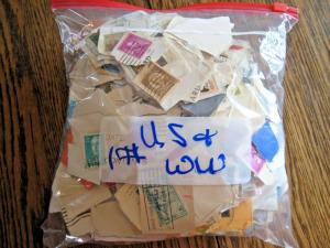 1+ POUND STAMPS ON PAPER - U.S. & WORLDWIDE MIXED