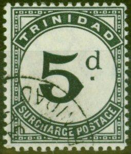 Trinidad 1905 5d Slate-Black SGD14 V.F.U