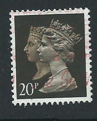 GB QE  II  SG 1469 Harrison 15 x 14 phosporised paper Used  from booklet