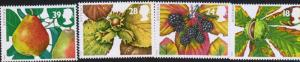G)1993 ENGLAND, AUTUMN FRUITS-LEAVES, SET OF 4, MNH