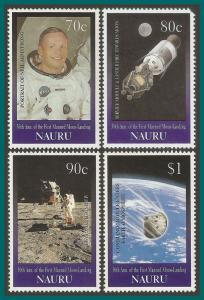 Nauru 1999 Moon Landing, MNH (80c damaged) 465-468,SG497-SG500