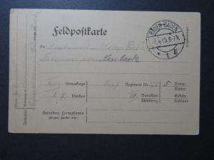 Germany 1915 Baden-Baden Feldpost Card  - Z10622