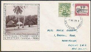 SAMOA 1935 ½d & 4d FDC ex Apia..............................................C761