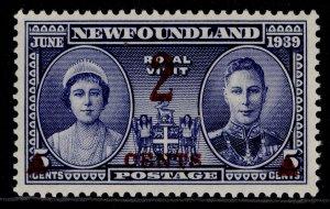 CANADA - Newfoundland GVI SG273, 2c on 5c deep ultramarine, M MINT.