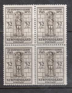 Newfoundland #221 VF Mint Block