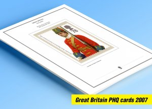 COLOR PRINTED GREAT BRITAIN 2007 PHQ CARDS STAMP ALBUM PAGES (115 illust. pages)