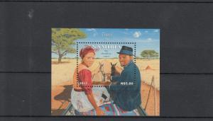 Namibia 2013 MNH Travel by Donkey Cart 1v Sheet Domestic Farm Animals Trees
