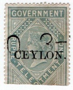 (I.B) Ceylon Telegraphs : Ceylon on India 1R OP