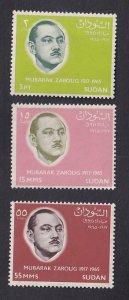 Sudan  #188-190   MNH  1966  Zaroug