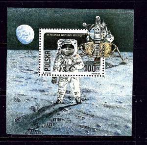 Poland 2910a MNH 1989 20th Anniv of 1st Moon Landing S/S