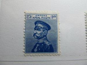 Serbien Serbia 1911 25p Fine MH* A5P18F387