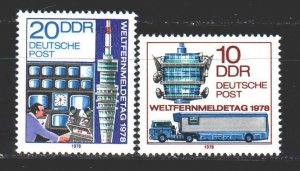 GDR. 1978. 2316-17. Telecommunication Day, television. MNH.