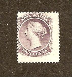 Nova Scotia  Scott #9  Mint H   Scott CV $12.00