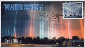 CA18-036, 2018, Weather Wonders, Pictorial, FDC, Light Pillars