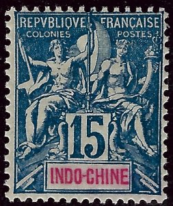 Indo-China Sc #10 Mint F-VF SCV$45...French Colonies are Hot!