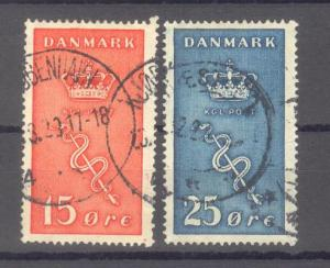 Denmark Scott # B4 - B5 Used Hinged